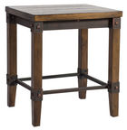 Home4you Stool Opus Antique Brown 75399