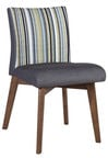 Home4you Chair Lotto Gray Striped 20872