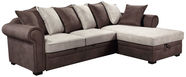 Home4you Corner Sofa Lucrezia RC Brown/Beige 28631