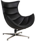 Home4you Armchair Grand Extra Black 39031