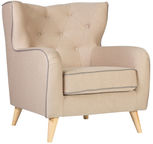 Home4you Armchair Hedy Beige 28628
