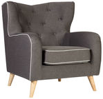 Home4you Armchair Hedy Dark Gray 28625