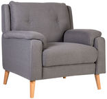 Home4you Armchair Luisa Mouse Gray 16752