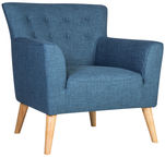 Home4you Armchair Movie Blue 20503