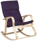 Home4you Rocking Chair Granny Purple 10163