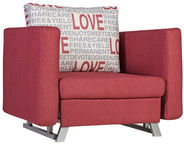 Home4you Armchair Bed Lucky Red 11641