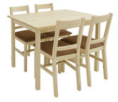 Black Red White Dining Room Set Lulu 2 Natural