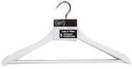 Home4you Lady In White Hangers 3pcs White