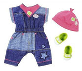 Zapf Creation Baby Born Clothes Denim Deluxe Coverall