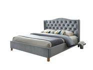 Signal Meble Bed Aspen Velvet 160x200cm Gray