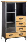 Home4you Chest Of Drawers Ferro Metal Wood