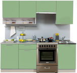 MN Kitchen Unit Simpl 2.1m With Shelve Green