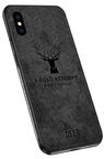 Mocco Deer Back Case For Apple iPhone X/XS Black