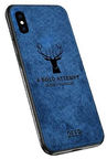 Mocco Deer Back Case For Apple iPhone X/XS Blue