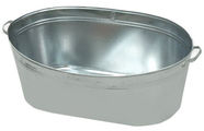 SN Round Metal Bath 75L Grey