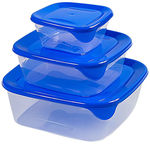 Curver Fresh&Go Food Dish Set 3pcs Blue