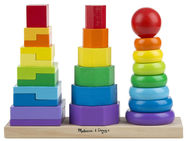 Melissa & Doug Geometric Stacker Toddler Toy 10567
