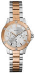 Guess Women's Watch W0443L4 Rose Gold Silver