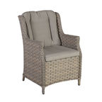 Home4you Pacific Garden Chair w/ Cushion Beige/Grey