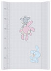 Ceba Baby Hard Changing Mat Short Bunnies grey