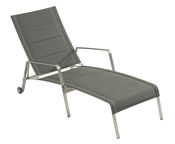 Home4you Beverly Deck Chair Grey