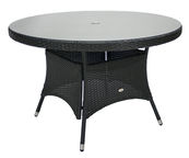 Home4you Wicker Table 120x76cm Black