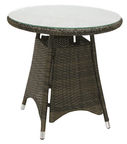 Home4you Wicker Table 60x59cm Dark Brown