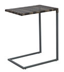 Home4you Wicker Side Table 51x40x65.5cm Dark Brown