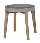 Home4you Sandstone Side Table 61x50cm Grey/Brown