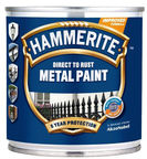 Hammerite Anticorrosive Enamel Metal Paint Smooth Black 0.25L