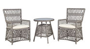 Home4you Marbella Table And 2 Chairs Set Grey/Beige