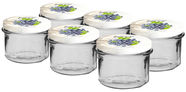SN Glass Jar With Metal Lid Set 132231 Assortment 6pcs 0.235l