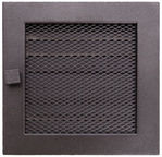 NORDFlam Fireplace Grill 170x170mm with Blinds Graphite