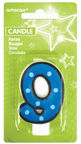 Amscan Cake Candle Number 9 7.6cm Blue