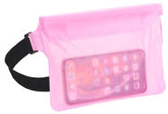 TakeMe Universal Waterproof Waist Bag For Mobile Devices Transparent/Pink