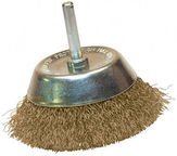 Leman Cup Brush With Brass Wire 75mm
