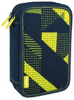 Milan Filled Double Decker Pencil Case 20 x 13.5 x 5.5cm Knit Yellow