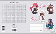 Jānis Roze Notebook JR9 18 Pages Girls With Cats