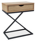 Signal Meble Liz I Nightstand 50x30cm Oak