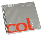 Bantex College A5 Line Notepad 70 pages Grey