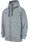 Nike Men's Sweatshirt Team Club 19 Full-Zip Fleece AJ1313 063 Gray M