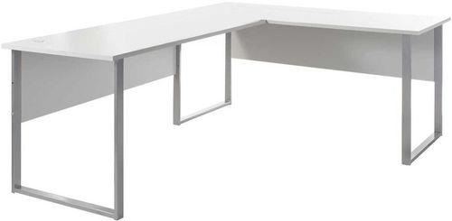 Black Red White Office Lux Corner Writing Desk Gray