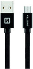 Swissten Textile Micro USB Data and Charging Cable 3m Black