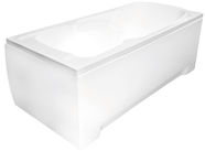 Besco UNI170 Bath Wall Kit White