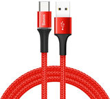 Baseus Halo USB To USB Type-C Cable 0.5m Red