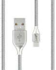 Beeyo Zinc USB To USB Type-C Cable Silver