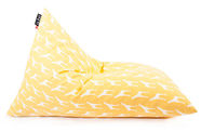Qubo Tryangle Bean Bag Art.70496 Safari Giraffe Whitewash Yellow