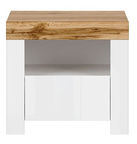 Black Red White Holten Night Stand White/Wotan Oak
