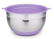 Fissman Mixing Bowl With Silicone Bottom And Pe Lid 20x12cm Purple