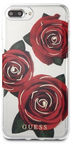 Guess Flower Desire Red Rose Back Case For Apple iPhone 7 Plus/8 Plus Transparent